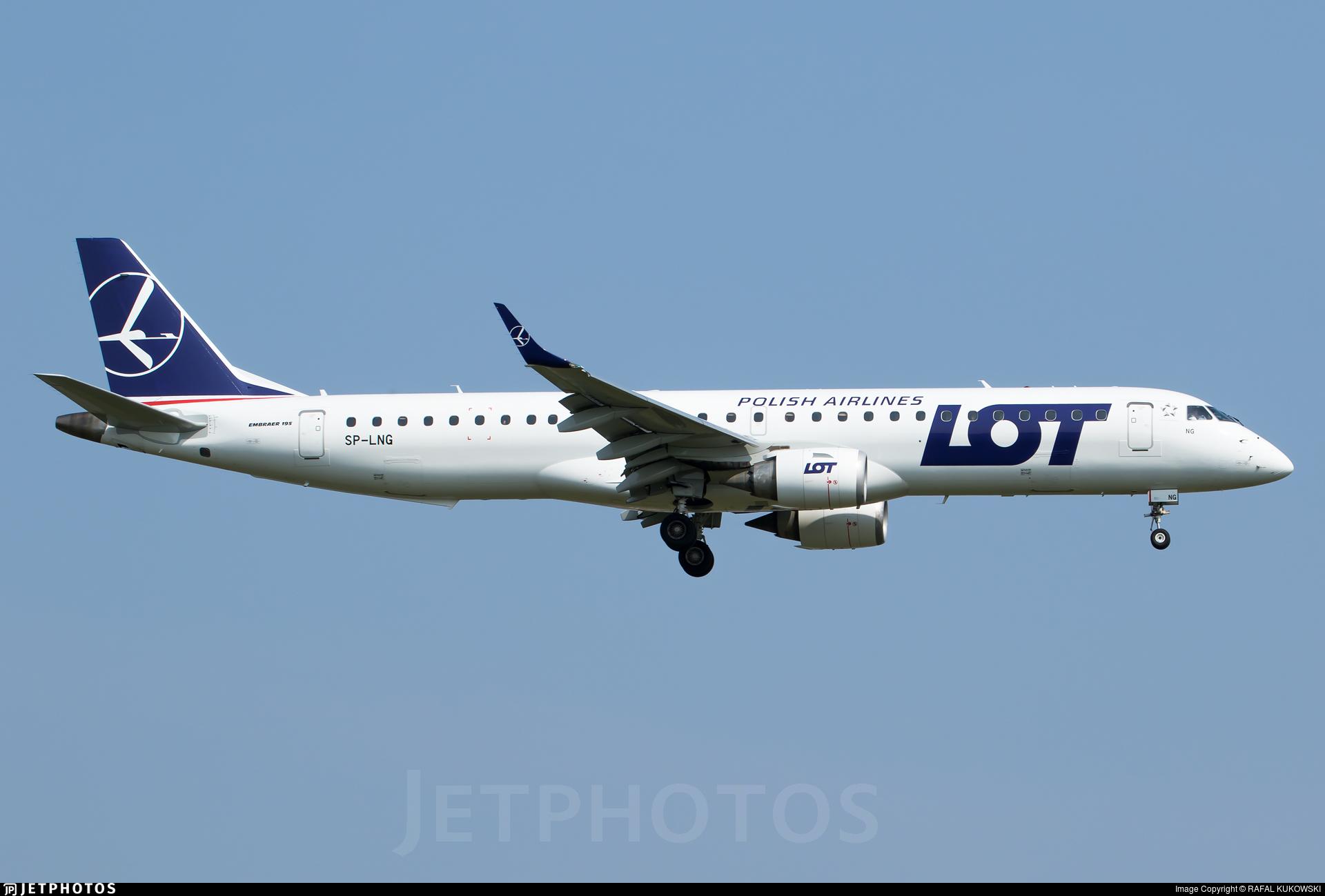sp lng embraer 190 200igw lot polish airlines rafal kukowski