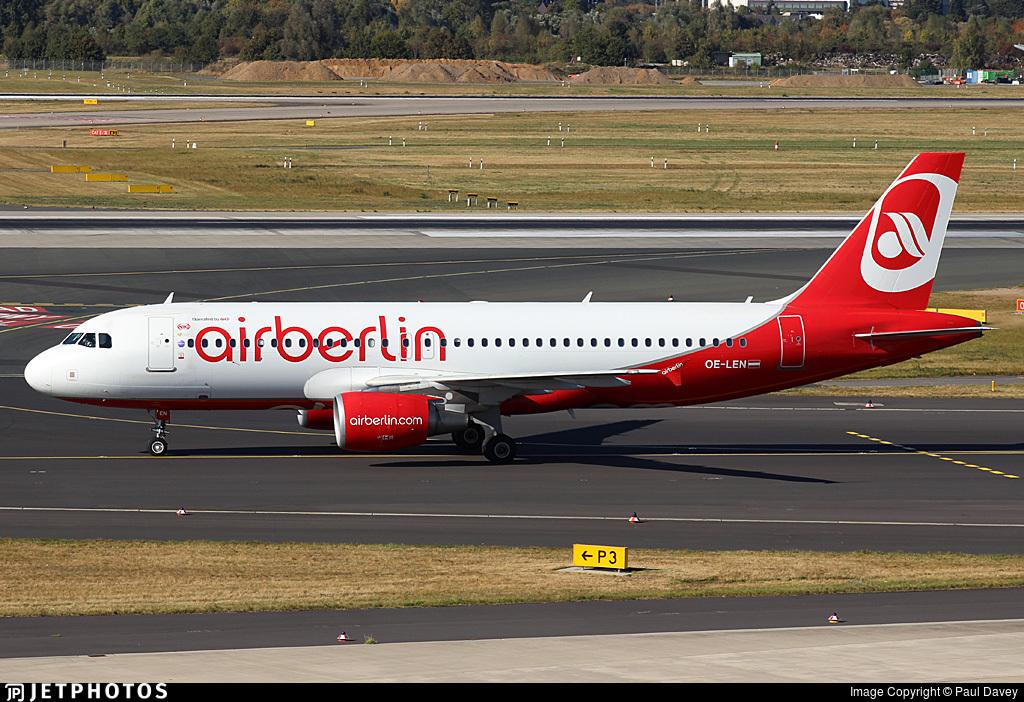 Len Düsseldorf oe len airbus a320 214 air berlin niki paul davey jetphotos