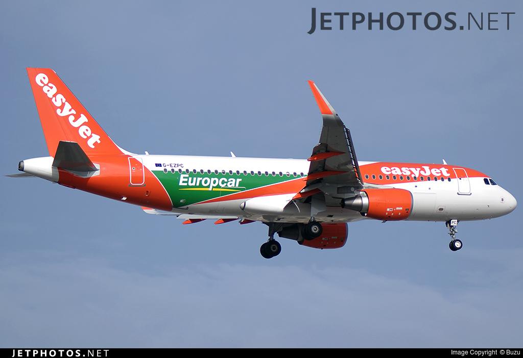 G Ezpc Airbus A320 214 Easyjet Buzu Jetphotos