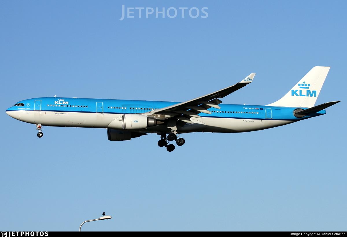 PH-AKD - Airbus A330-303 - KLM Royal Dutch Airlines