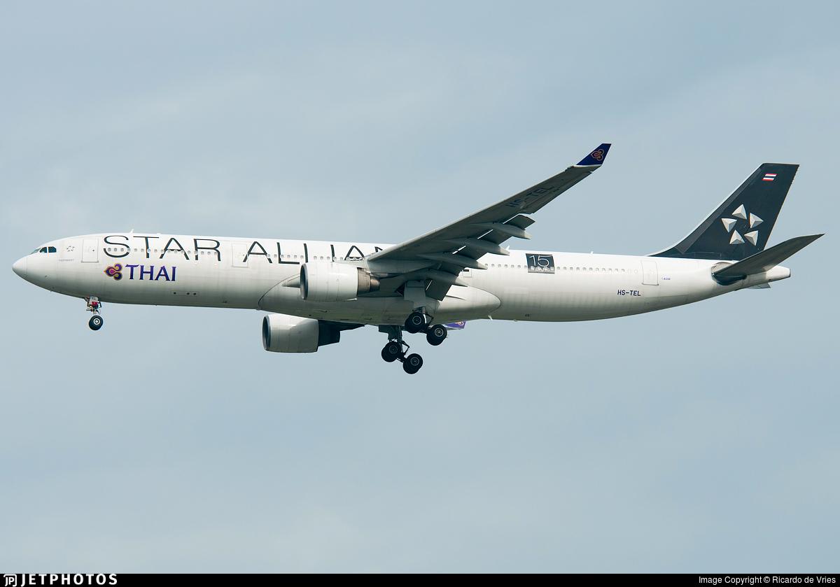 HS-TEL - Airbus A330-322 - Thai Airways International