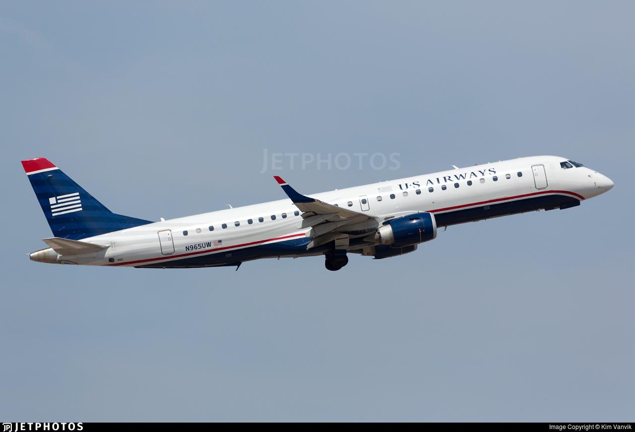 N965UW - Embraer 190-100IGW - US Airways