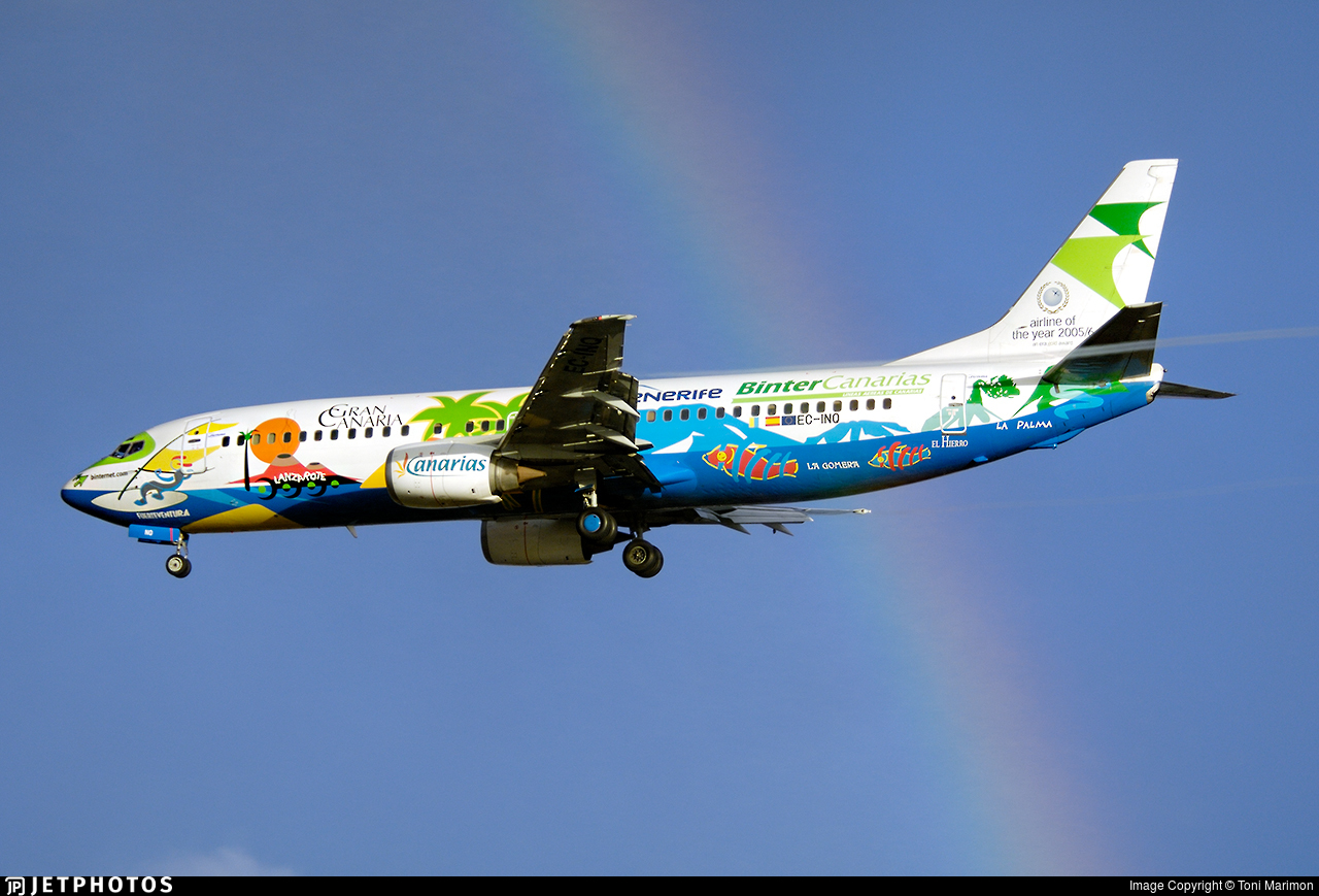 EC-INQ - Boeing 737-4Q8 - Binter Canarias