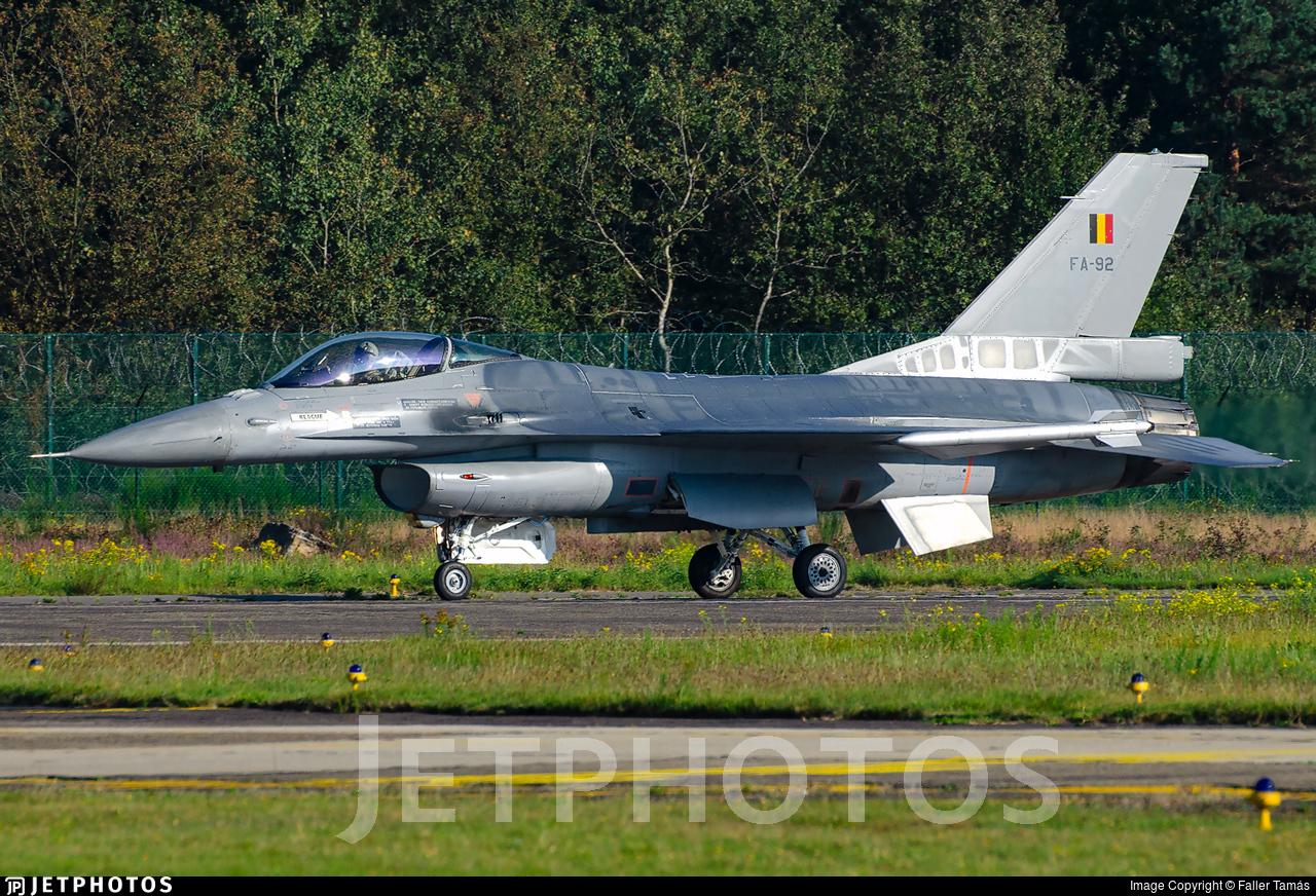 FA-92 - General Dynamics F-16AM Fighting Falcon - Belgium - Air Force