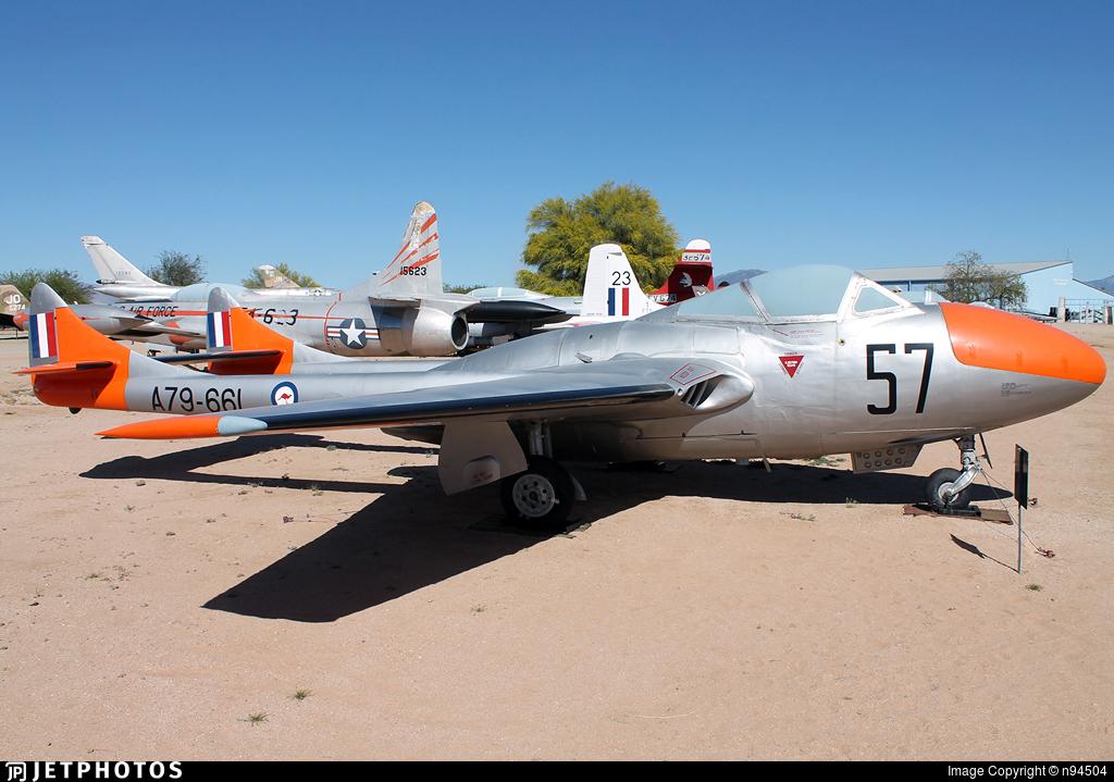 A79-661 - De Haviland Australia Vampire T.35 - Australia - Royal Australian Air Force (RAAF)
