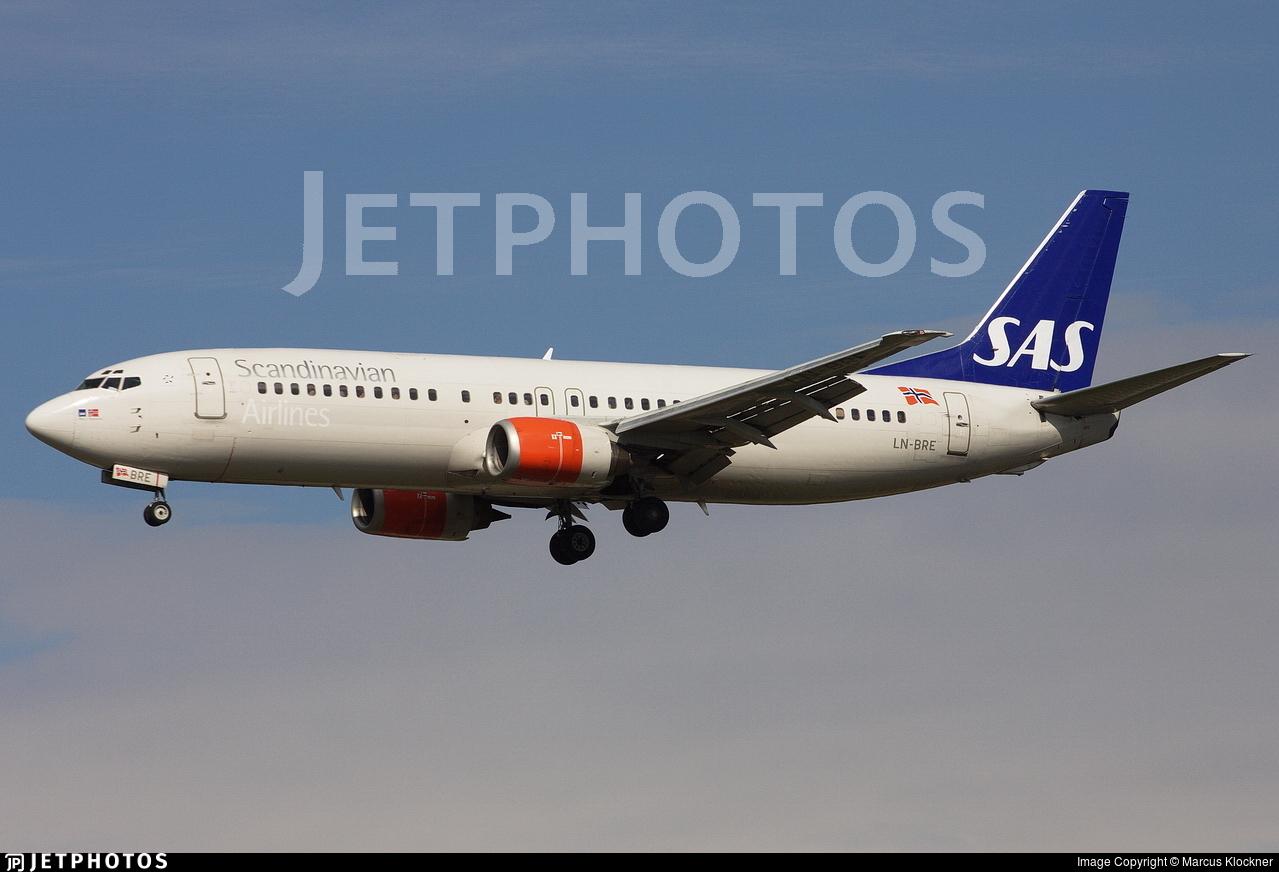 LN-BRE - Boeing 737-405 - SAS Norge
