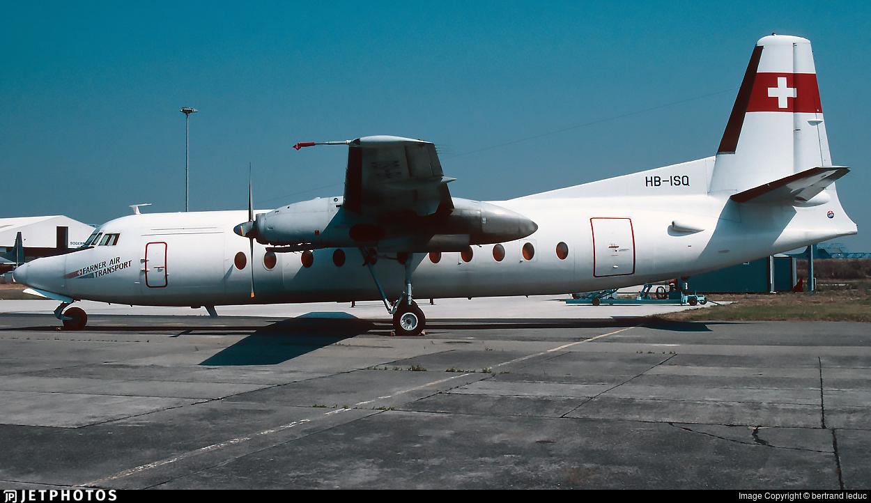 HB-ISQ - Fokker F27-500F Friendship - Farner Air Transport