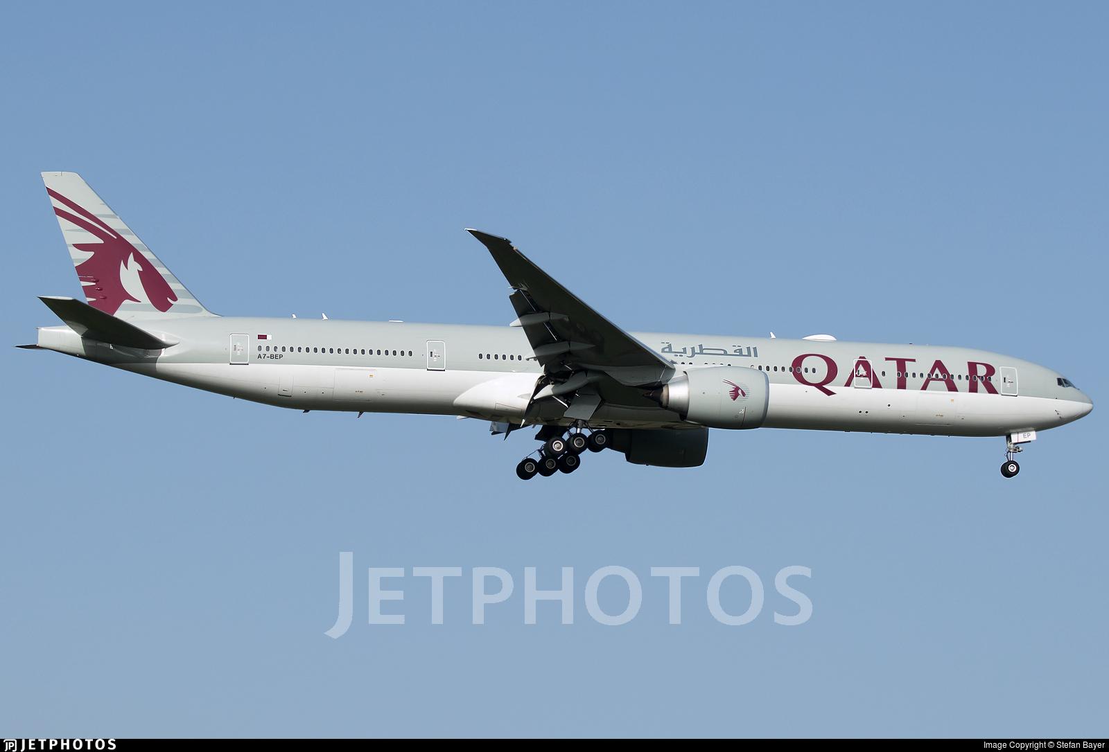 A7-BEP - Boeing 777-3DZER - Qatar Airways