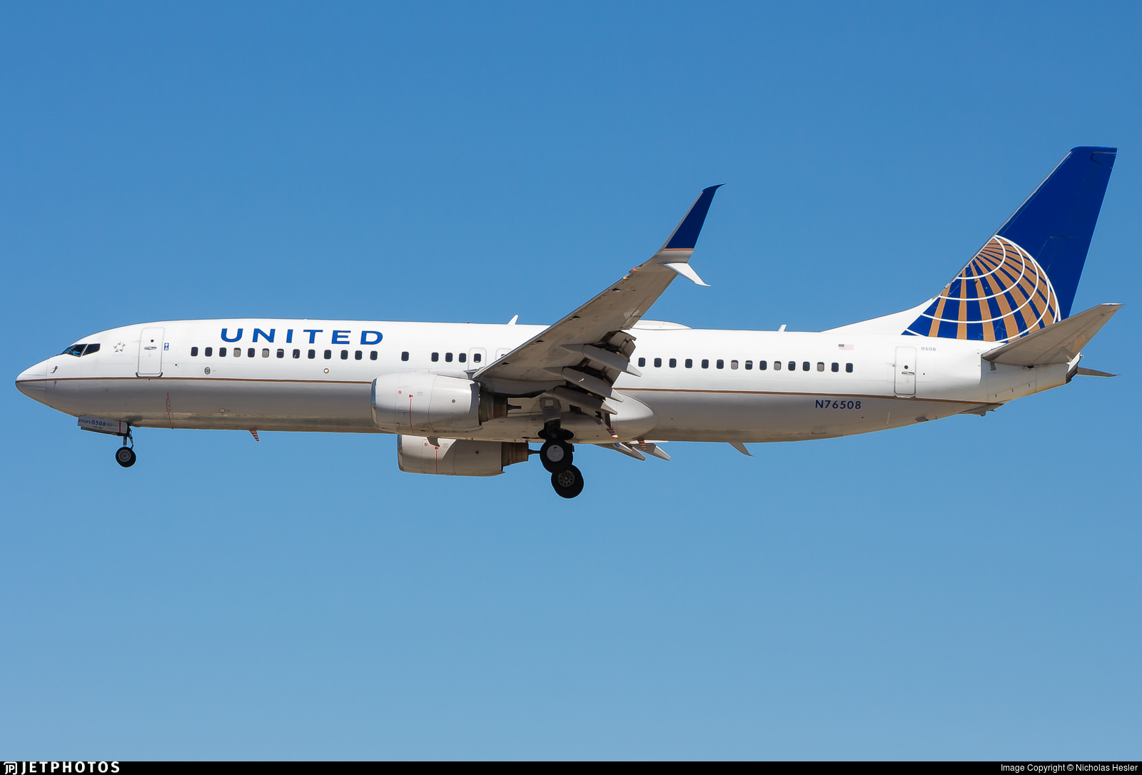N76508 - Boeing 737-824 - United Airlines