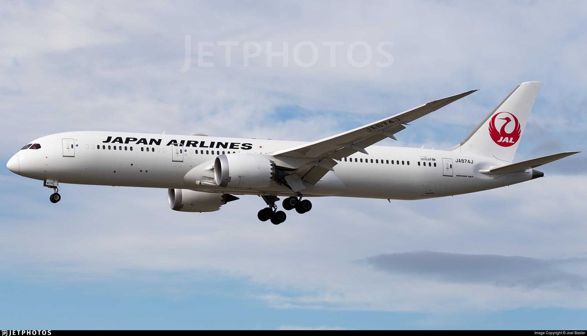 JA874J - Boeing 787-9 Dreamliner - Japan Airlines (JAL)
