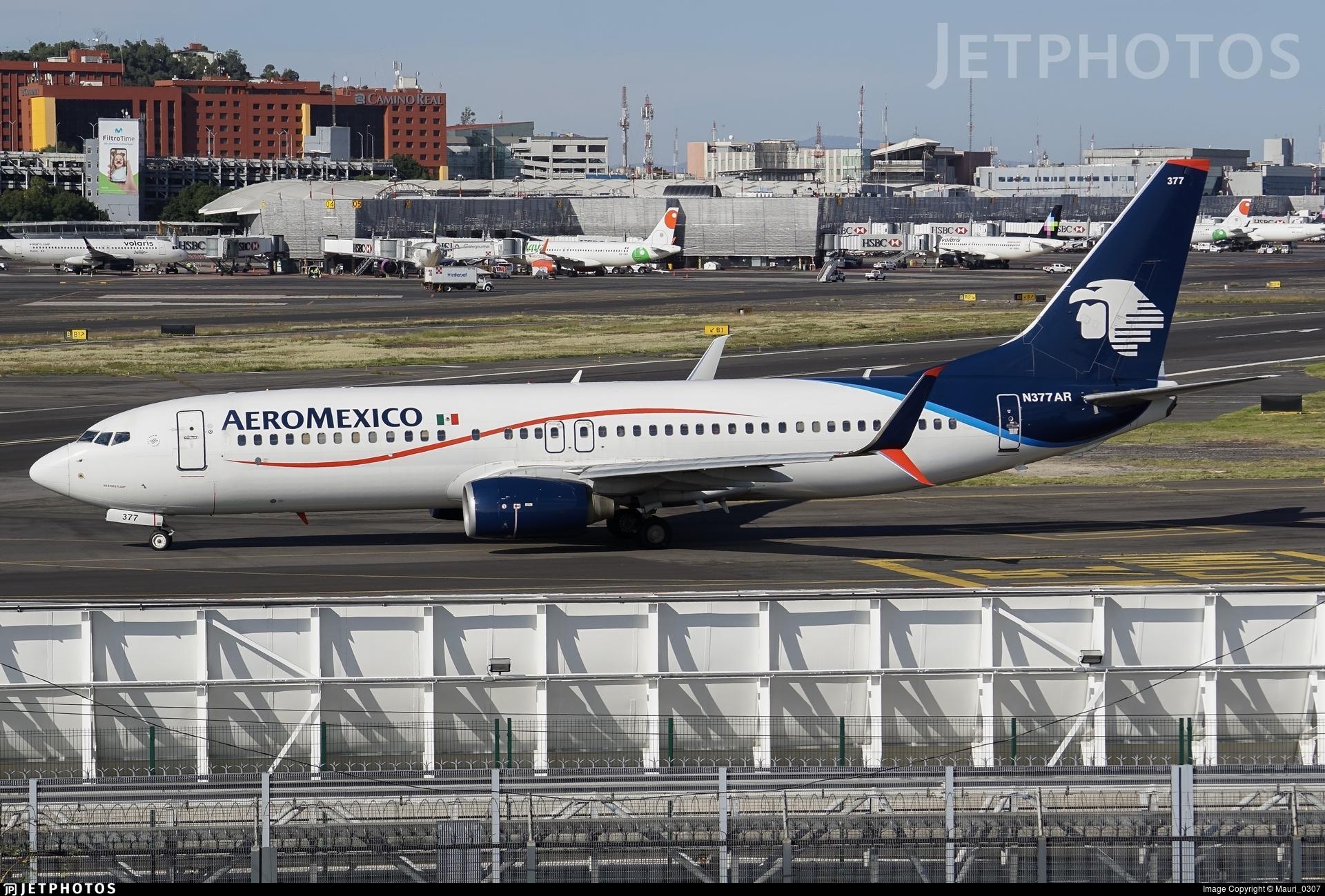 N377AR - Boeing 737-86J - Aeroméxico