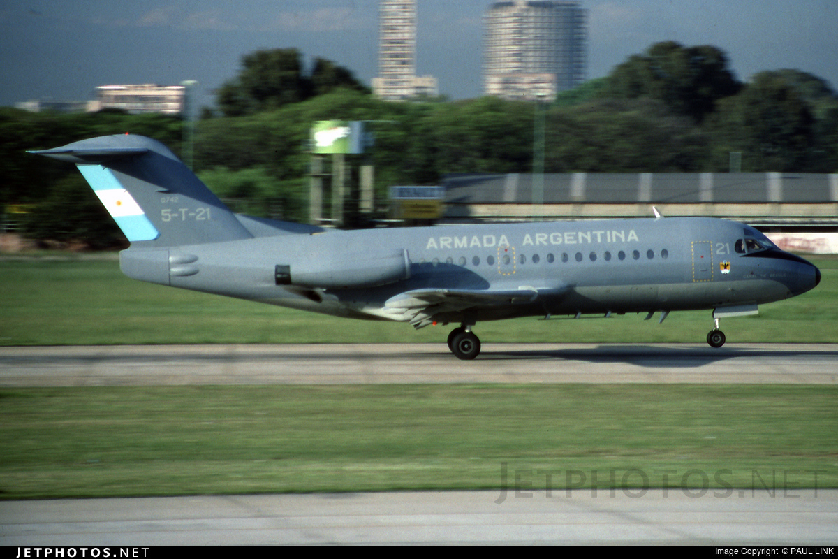 5-T-21 | Fokker F28-3000C Fellowship | Argentina - Navy ...