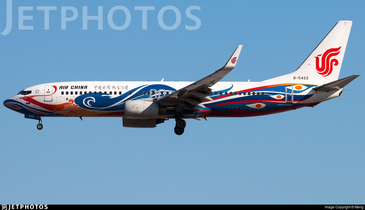 B-5422 - Boeing 737-89L - Air China