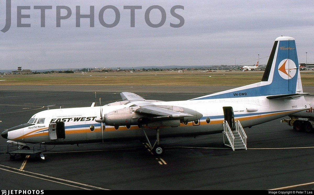VH-EWO - Fokker F27-500 Friendship - East-West Airlines