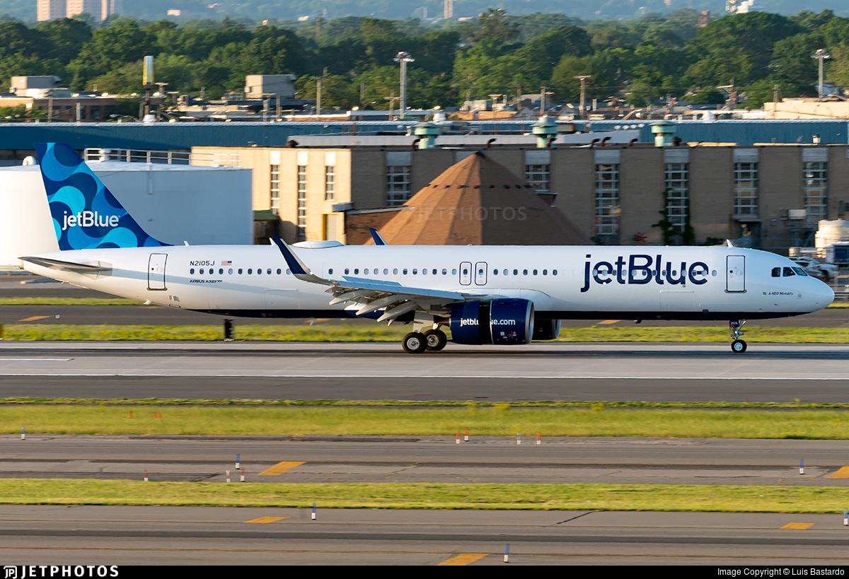 N2105J - Airbus A321-271NX - jetBlue Airways