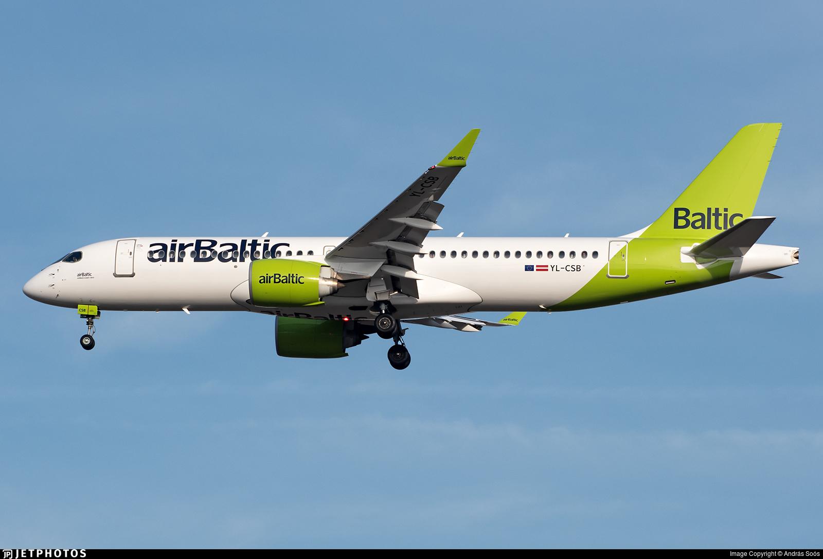 YL-CSB - Bombardier CSeries CS300 - Air Baltic