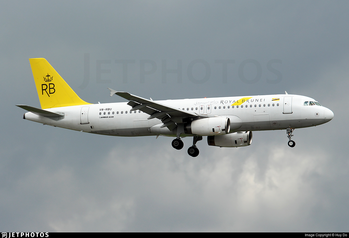 V8-RBU - Airbus A320-232 - Royal Brunei Airlines