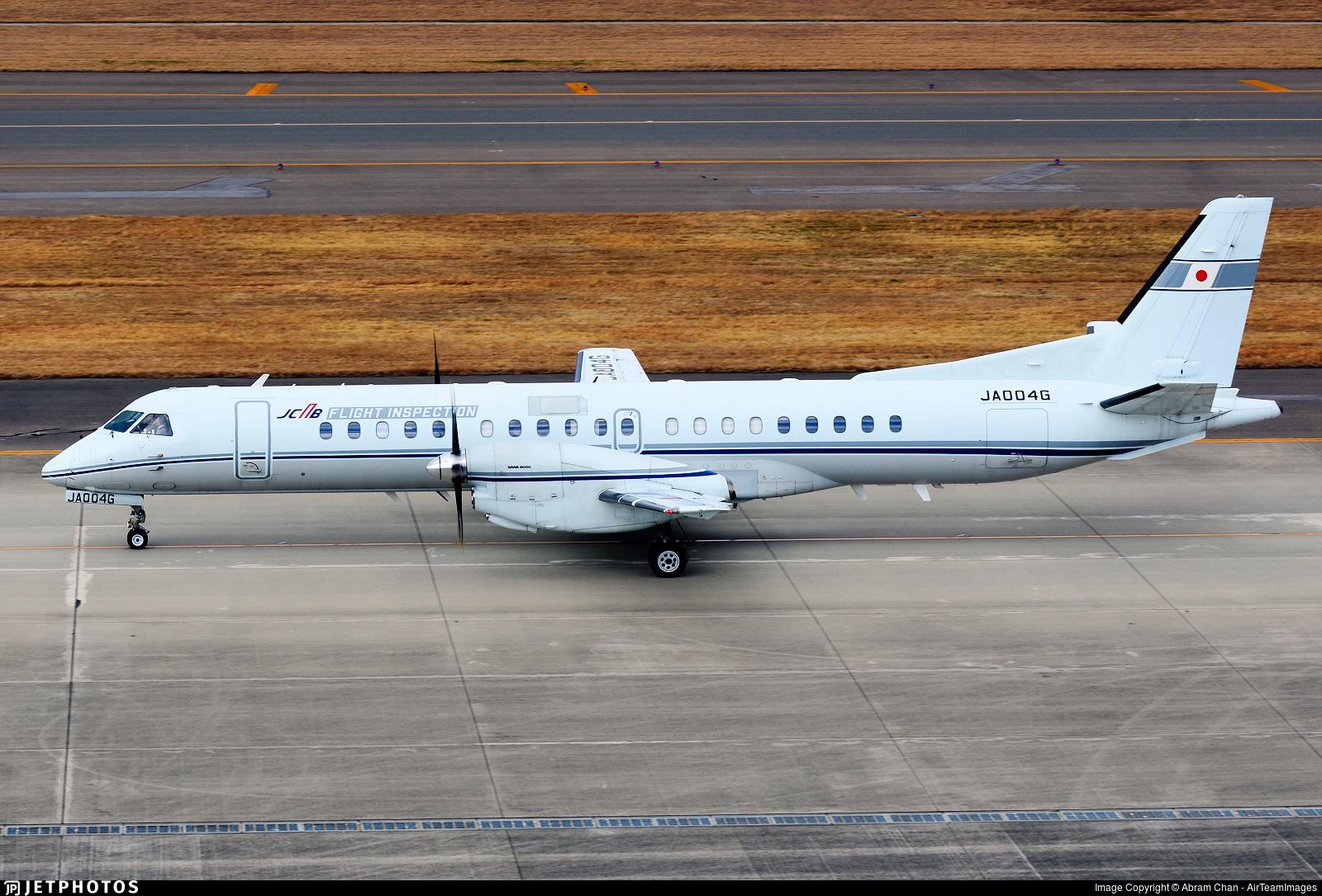 JA004G Saab 2000 Japan Civil Aviation Bureau Abram Chan