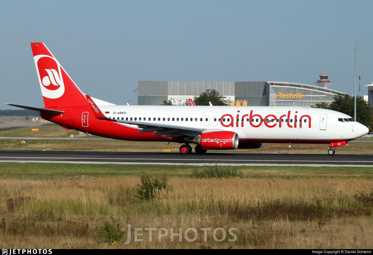 D-ABKD - Boeing 737-86J - Air Berlin