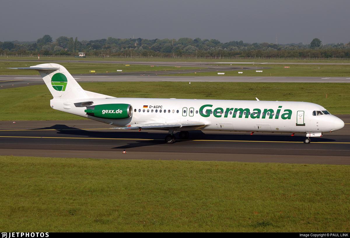 D-AGPC - Fokker 100 - Germania
