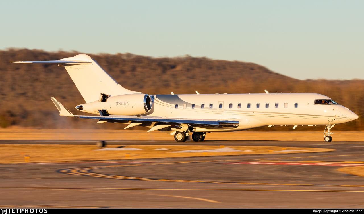 N80AK - Bombardier BD-700-1A11 Global 5000 - Private