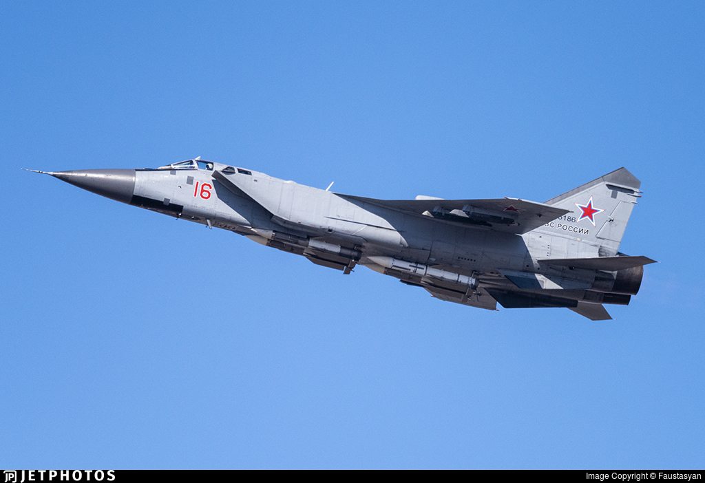 RF-95186 - Mikoyan-Gurevich MiG-31BM Foxhound - Russia - Air Force