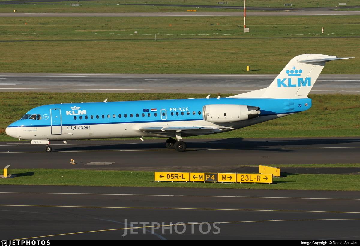 PH-KZK - Fokker 70 - KLM Cityhopper