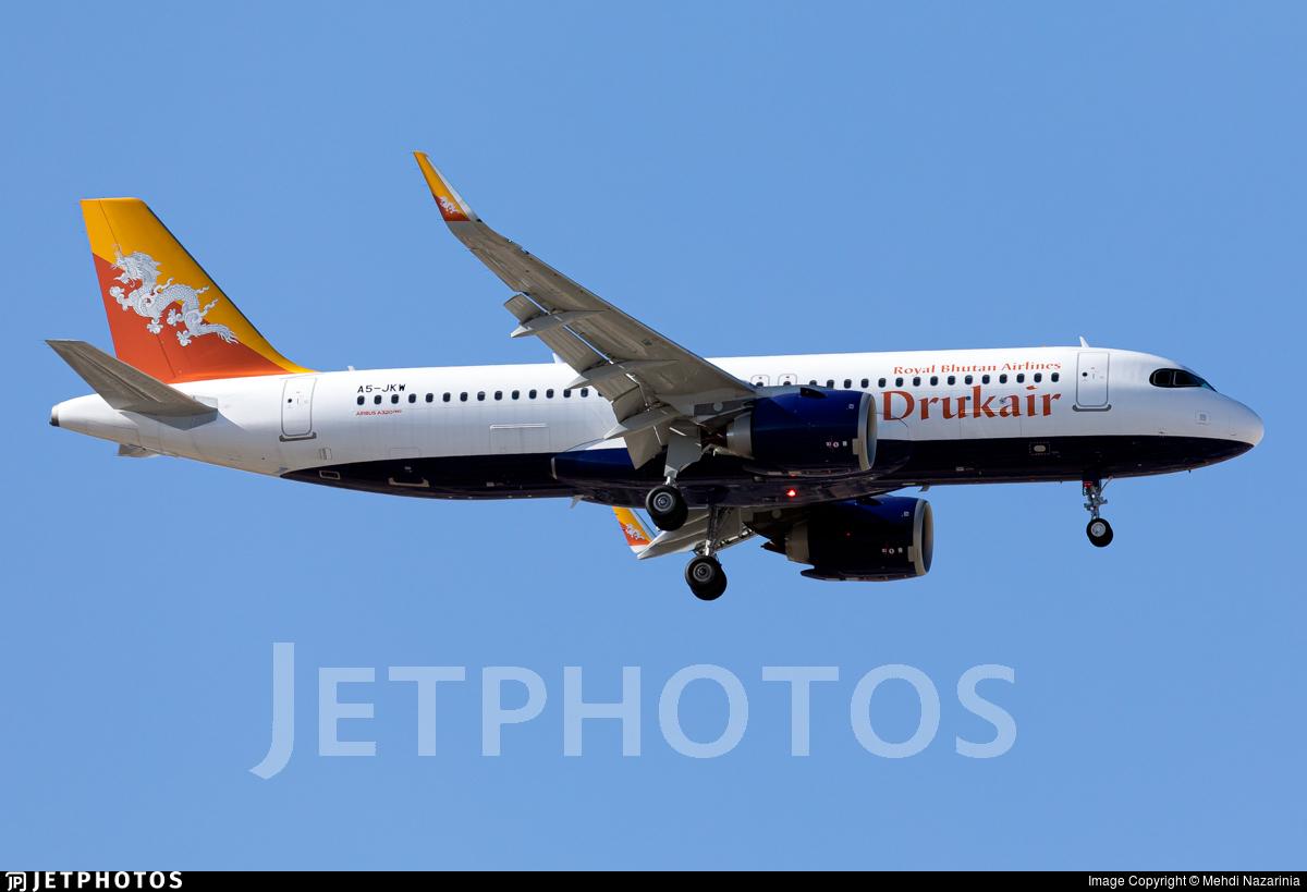 A5-JKW - Airbus A320-251N - Druk Air - Royal Bhutan Airlines