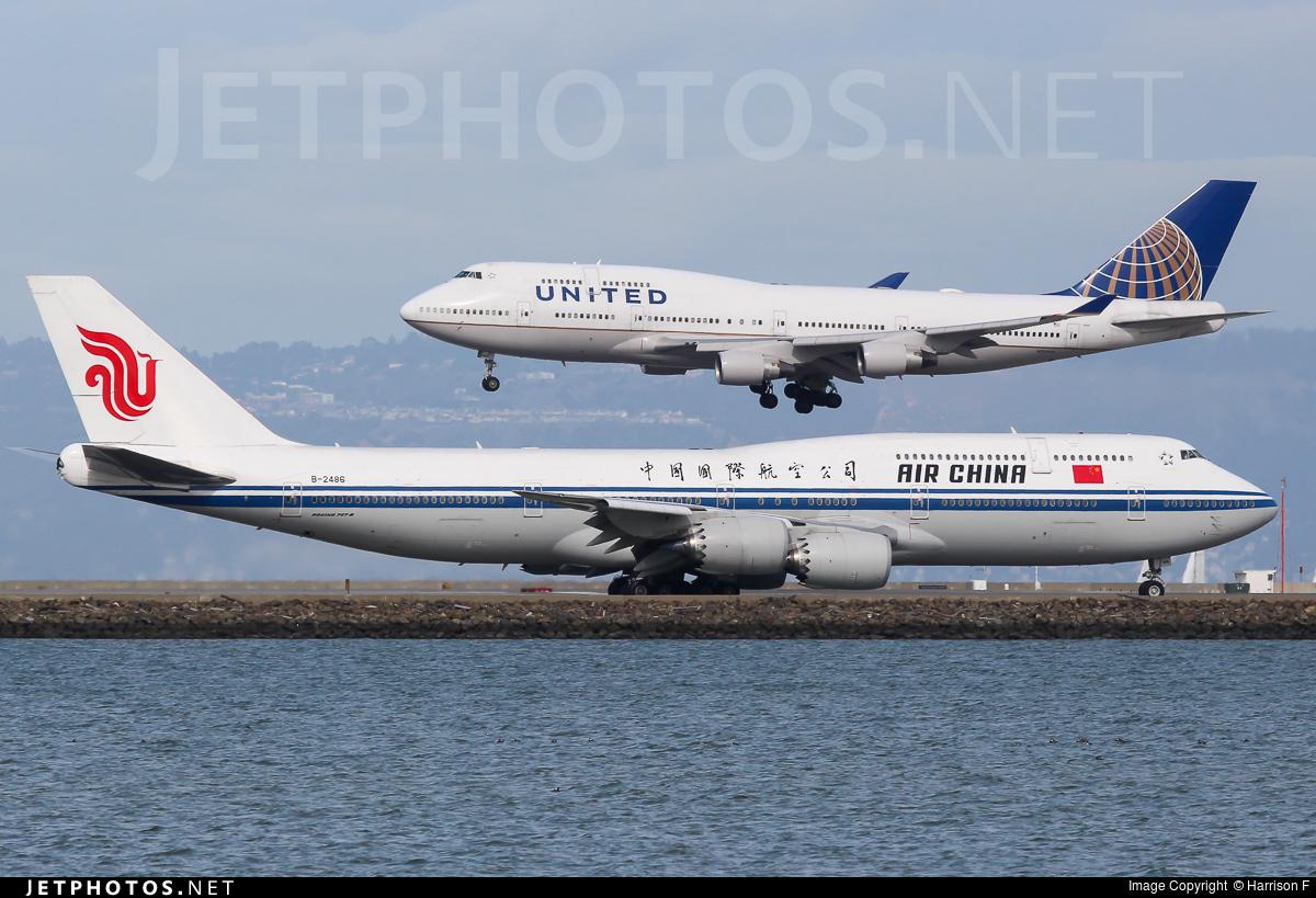 B-2486 - Boeing 747-89L - Air China