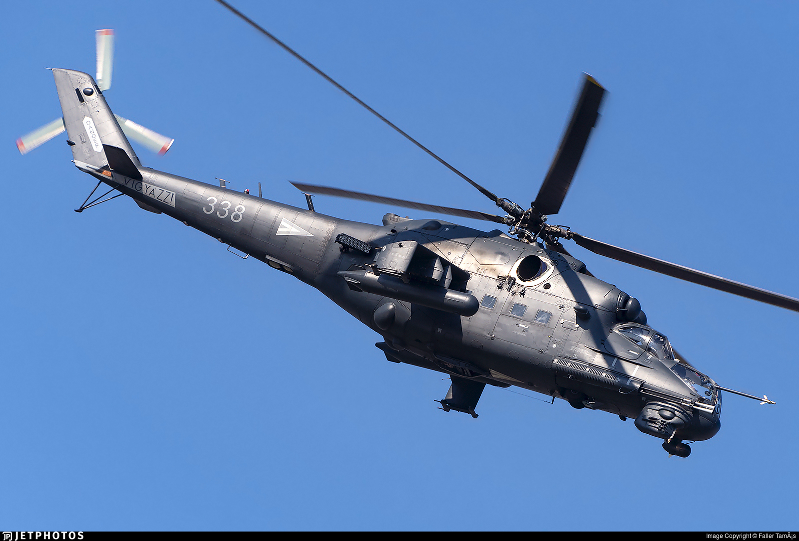 338 - Mil Mi-24P Hind F - Hungary - Air Force