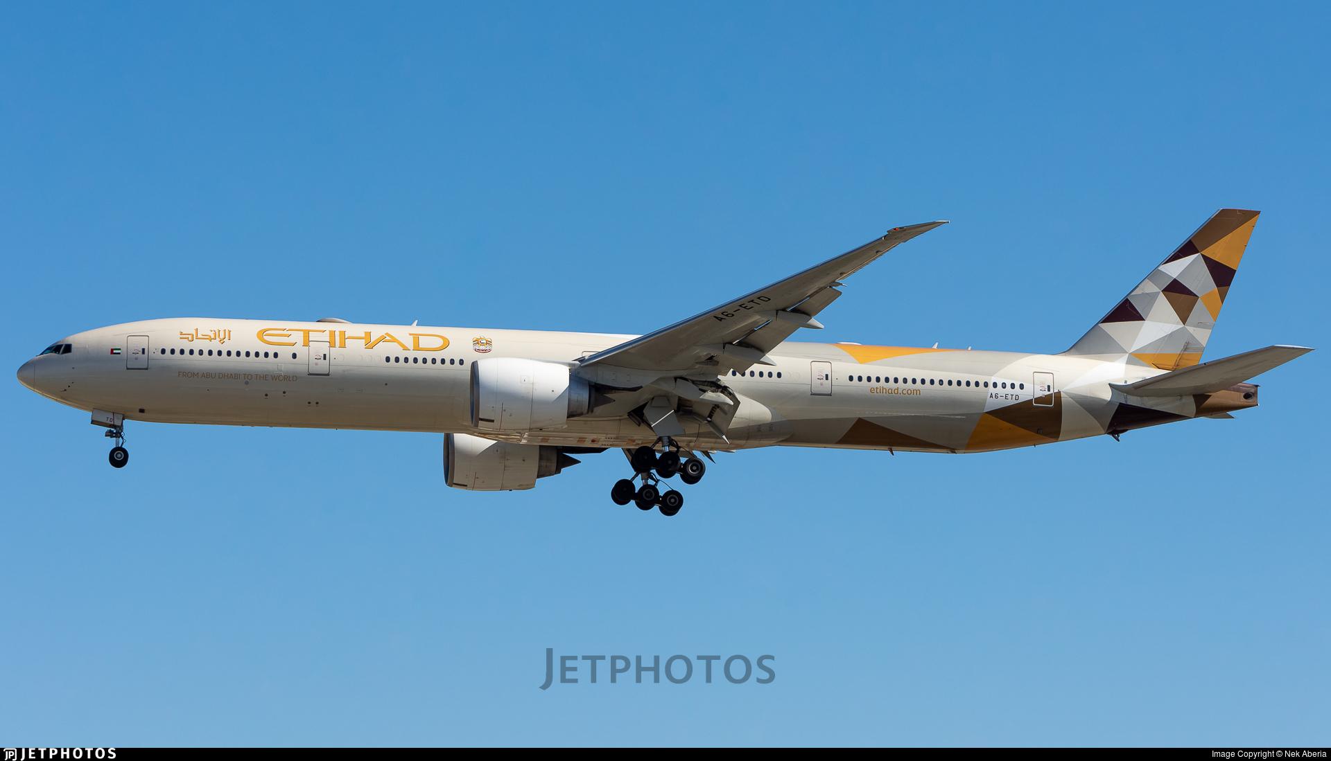 A6-ETD - Boeing 777-3FXER - Etihad Airways
