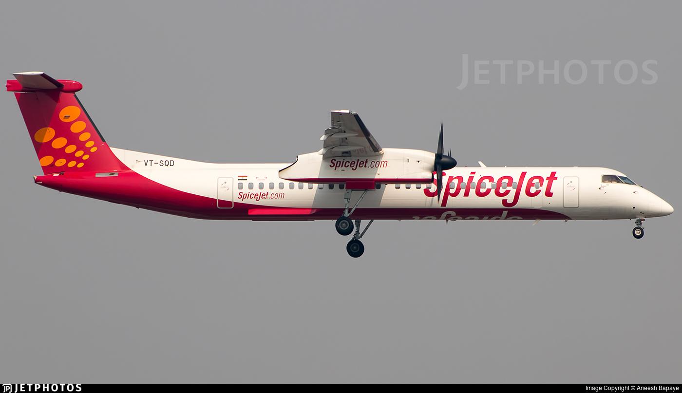 VT-SQD - Bombardier Dash 8-Q402 - SpiceJet