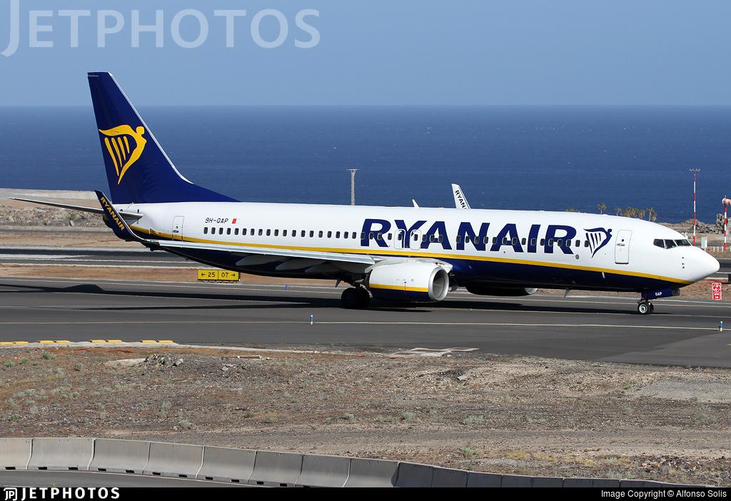 9H-QAP - Boeing 737-8AS - Ryanair (Malta Air)
