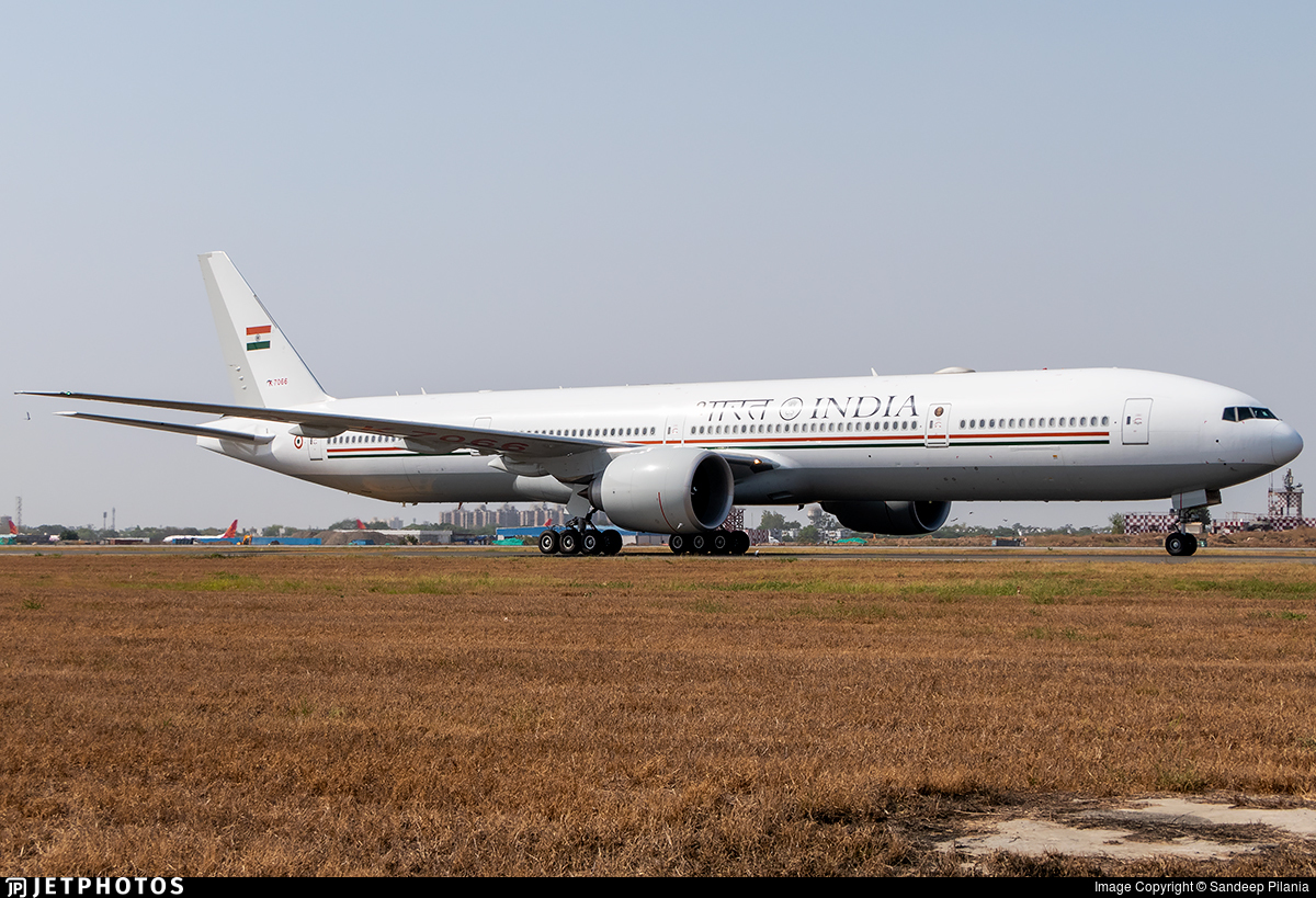 K7066 - Boeing 777-337ER - India - Government