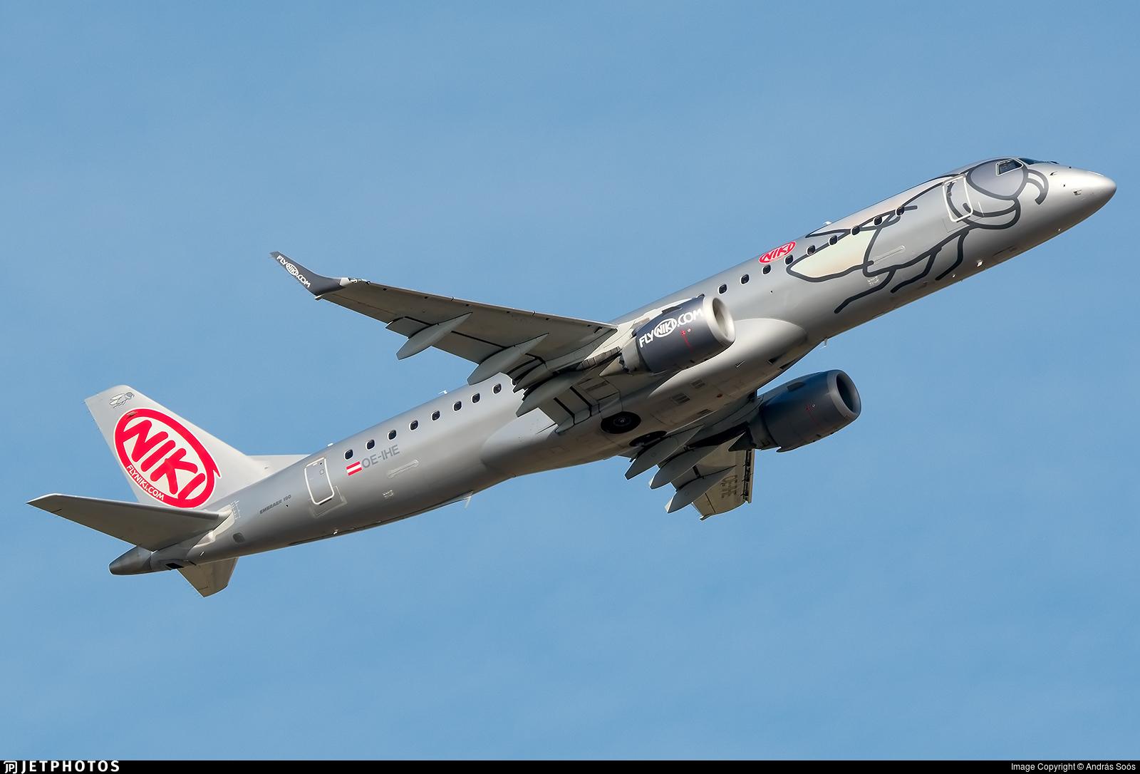 OE-IHE - Embraer 190-100LR - Niki