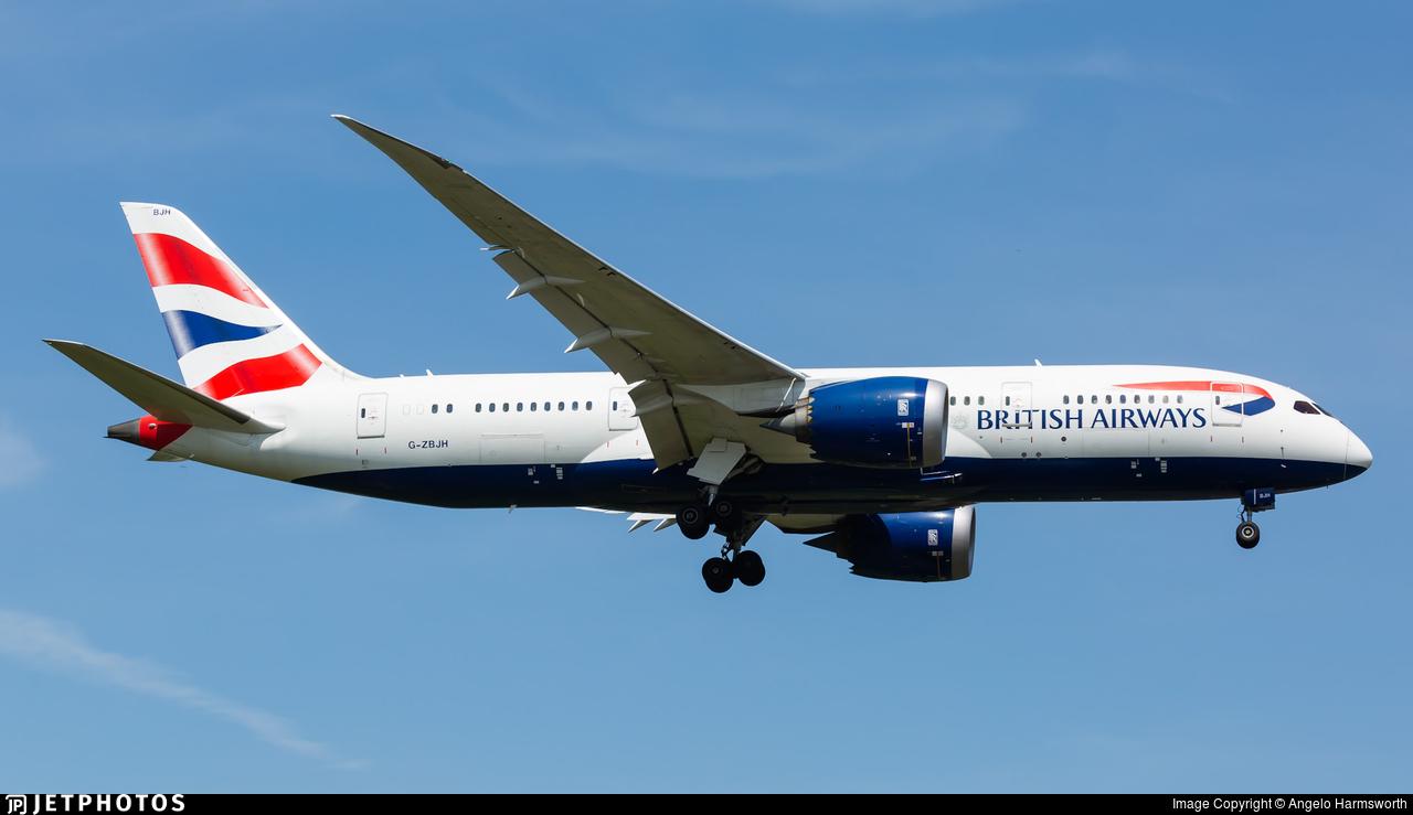 G-ZBJH - Boeing 787-8 Dreamliner - British Airways