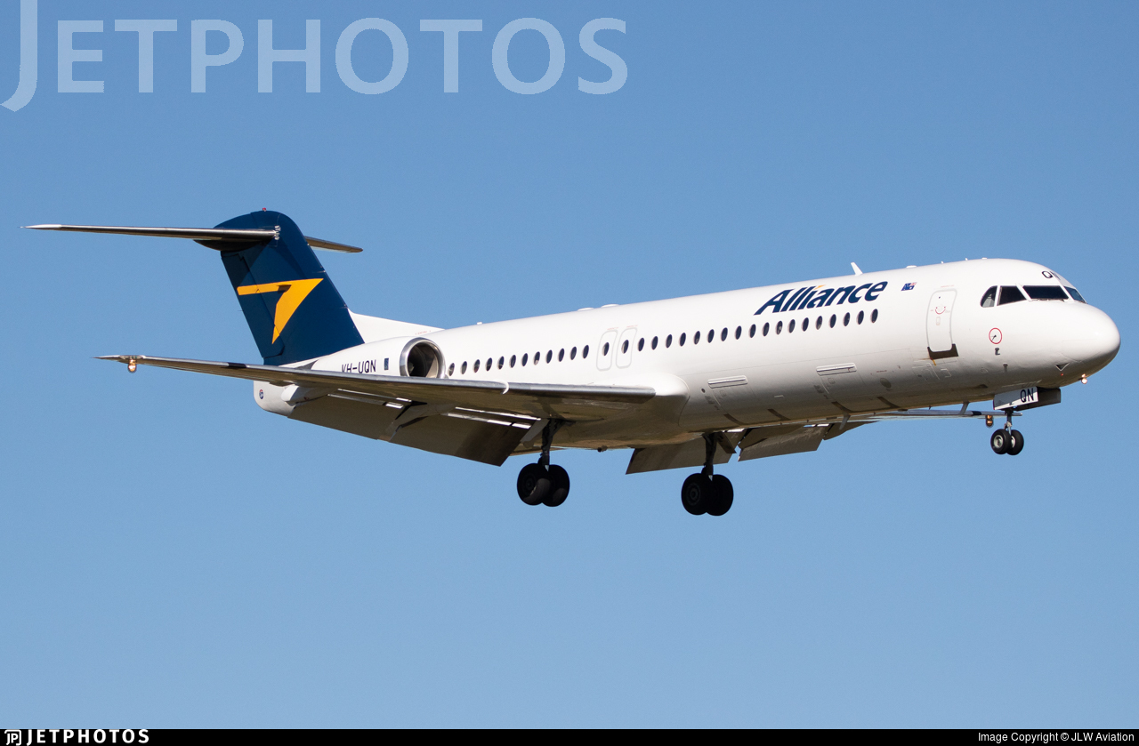 VH-UQN - Fokker 100 - Alliance Airlines