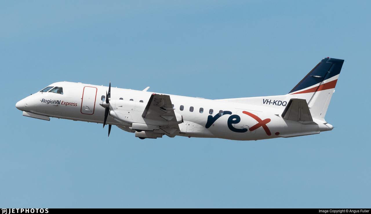 VH-KDQ - Saab 340B - Regional Express (REX)
