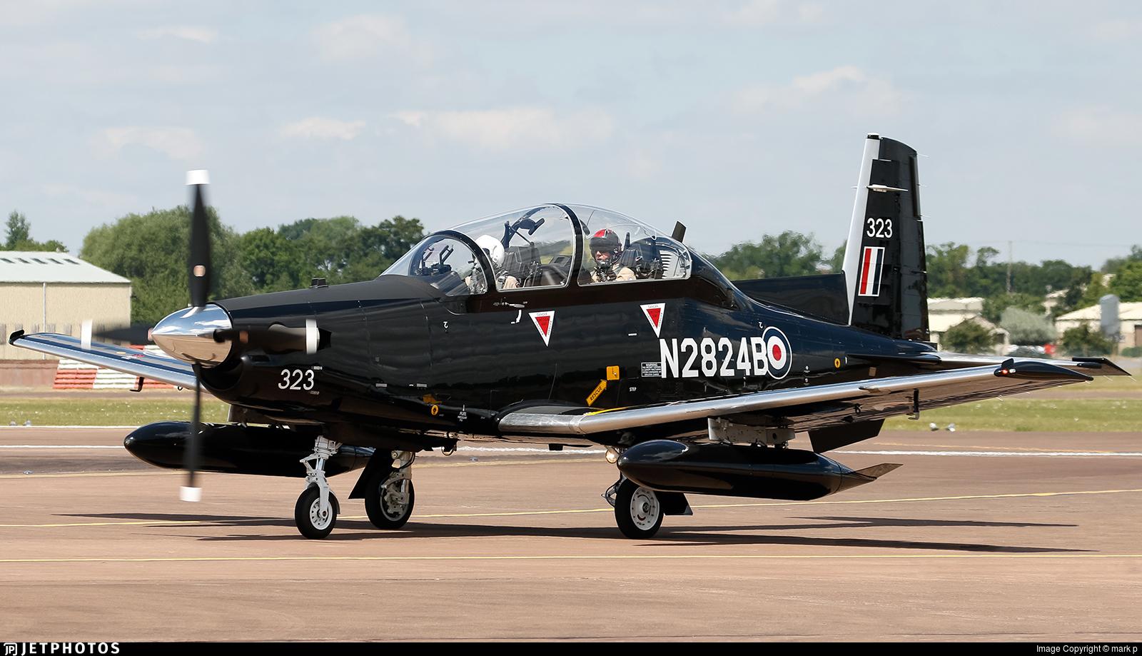 N2824B - Raytheon T-6C Texan II - Beechcraft Corporation