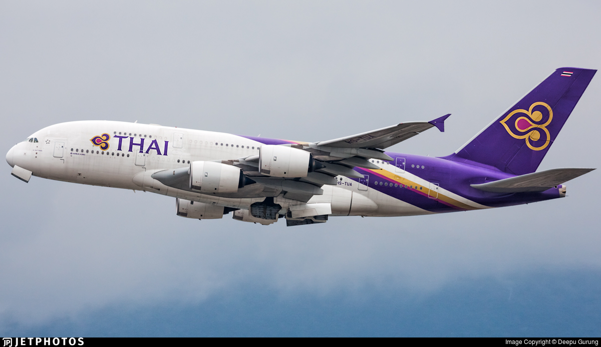 HS-TUA - Airbus A380-841 - Thai Airways International