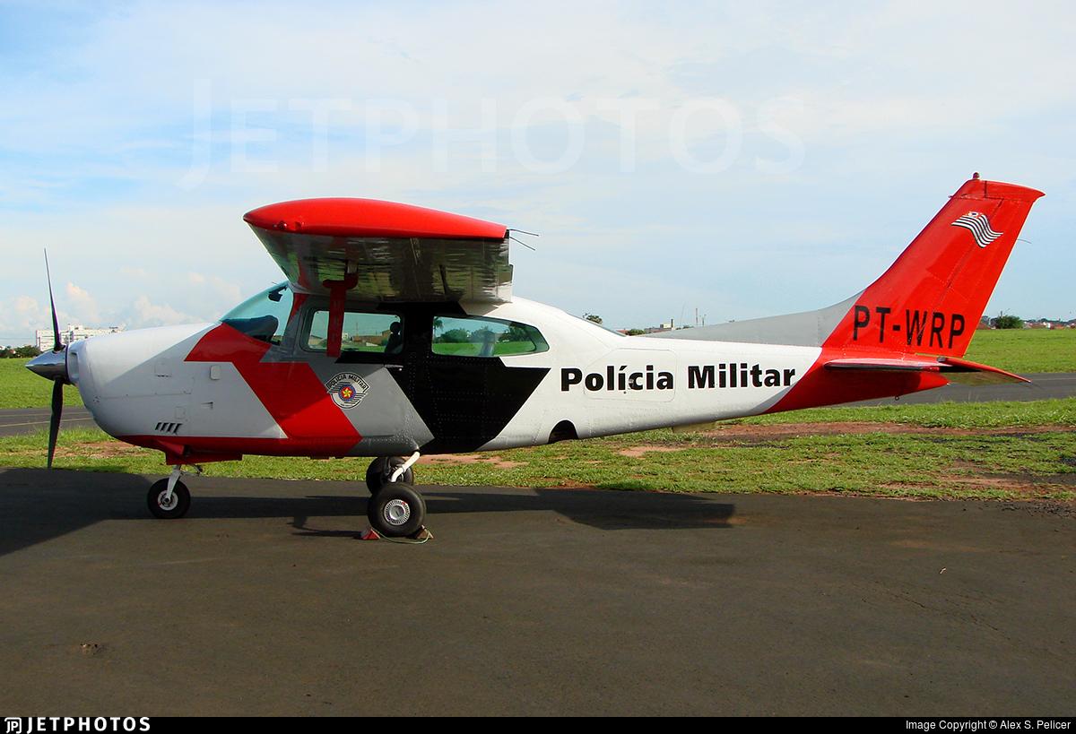 PT-WRP - Cessna 210D Centurion - Brazil - Military Police of São Paulo State