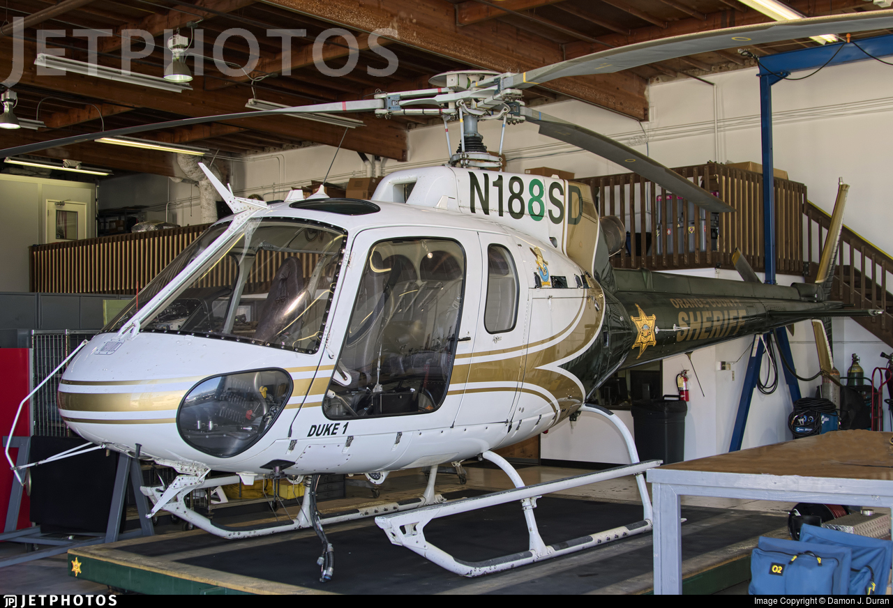 N188SD - Eurocopter AS 350B2 Ecureuil - United States - Orange County Sheriff Department, California