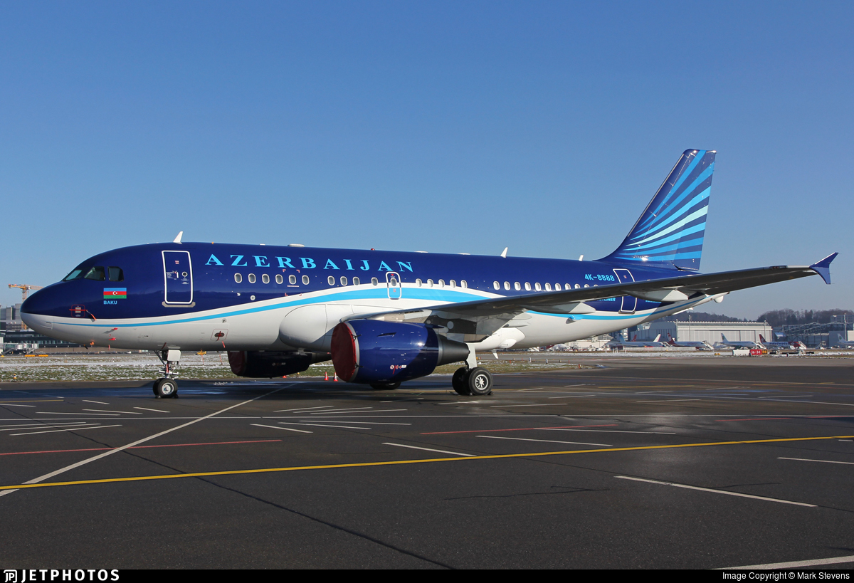 4K-8888 - Airbus A319-115X(CJ) - Azerbaijan - Government