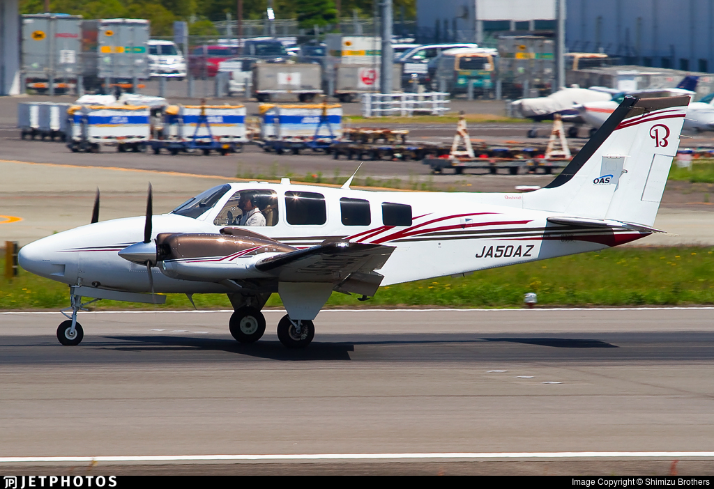 JA50AZ - Beechcraft Baron G58 - Okayama Air Service (OAS)