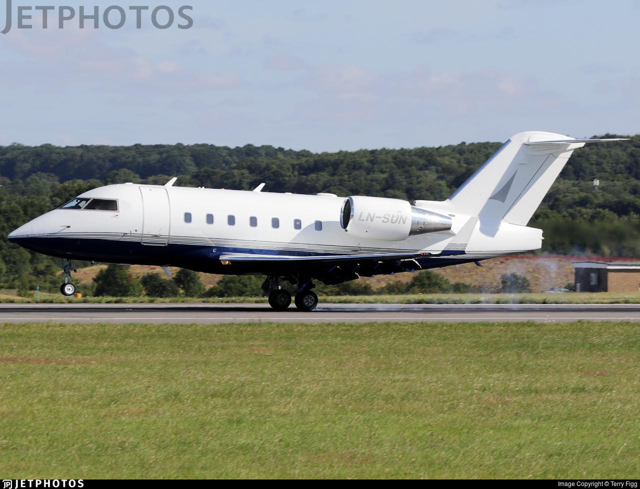 LN-SUN - Bombardier CL-600-2B16 Challenger 604 - Private