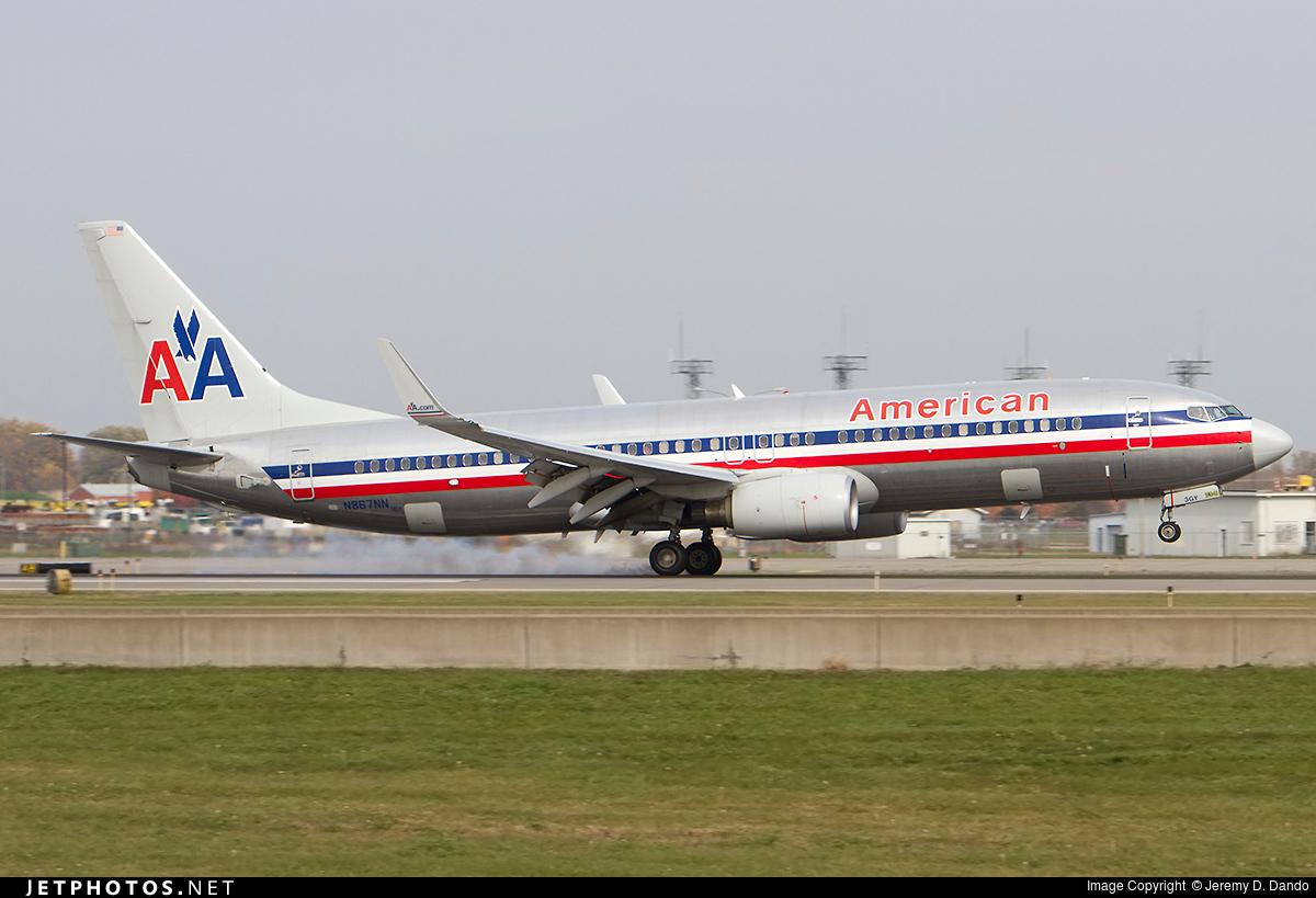 N867nn Boeing 737 823 American Airlines Jeremy D