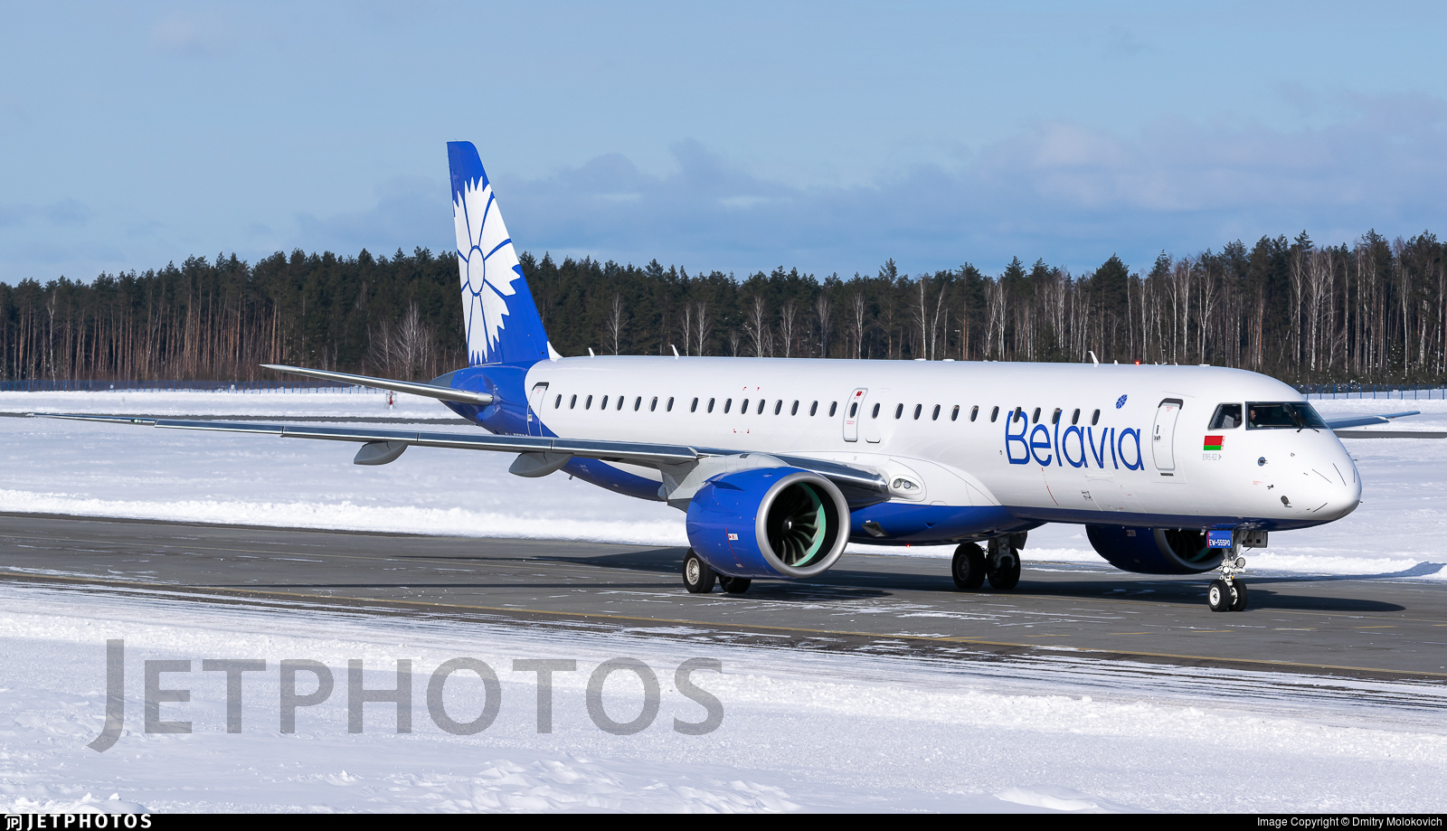 EW-555PO - Embraer 190-400STD - Belavia Belarusian Airlines