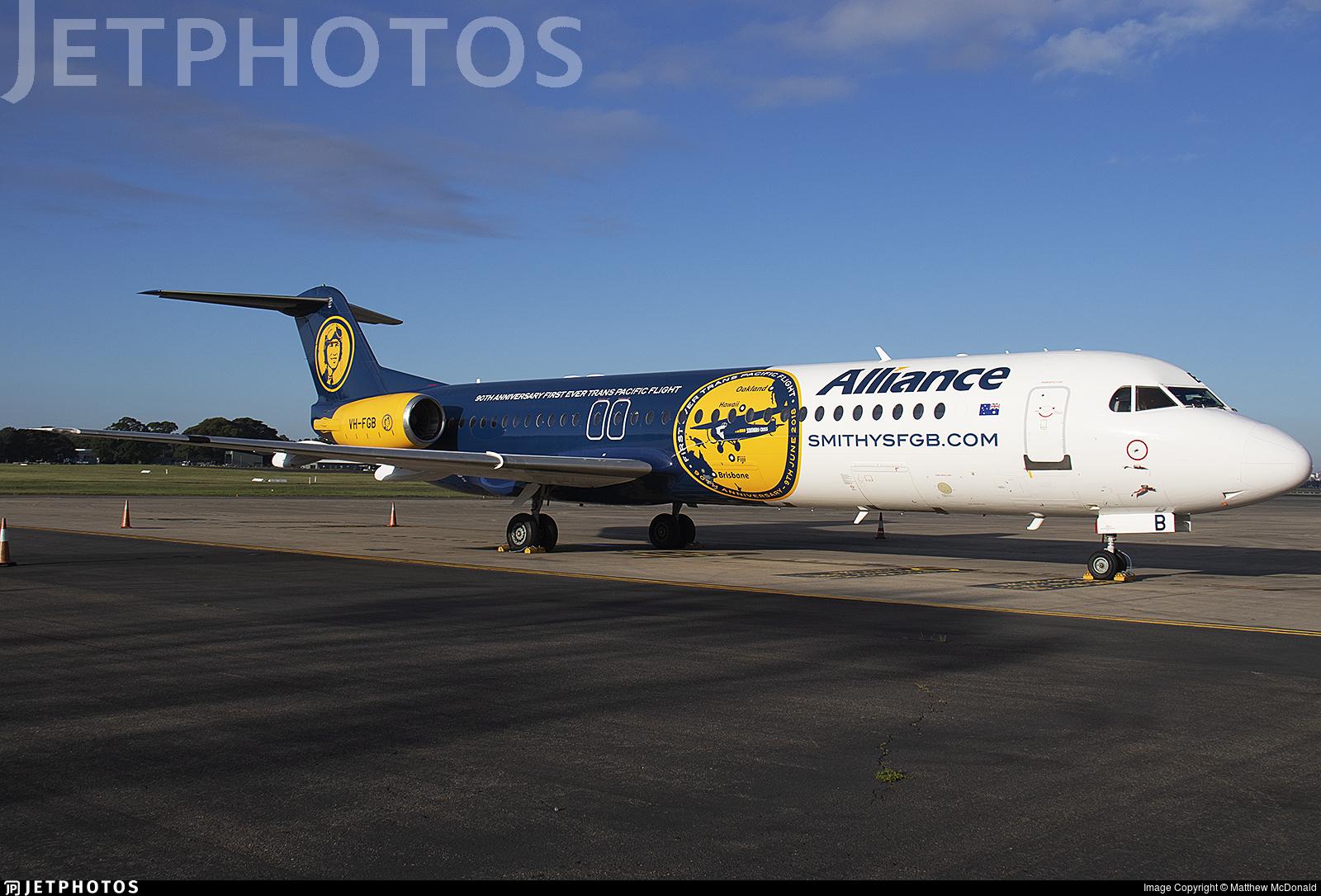 VH-FGB - Fokker 100 - Alliance Airlines