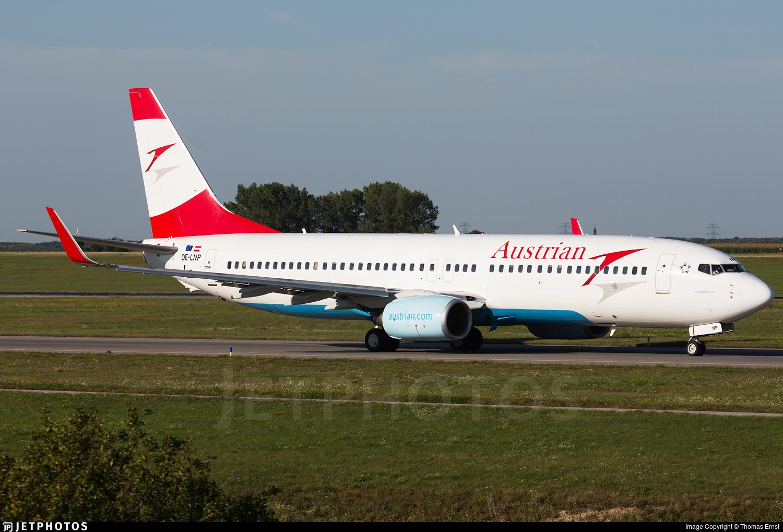 OE-LNP - Boeing 737-8Z9 - Austrian Airlines (Tyrolean Airways)