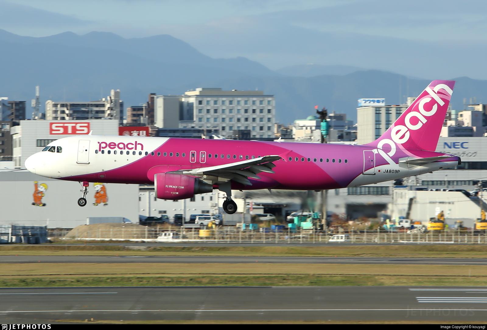 JA809P - Airbus A320-214 - Peach Aviation
